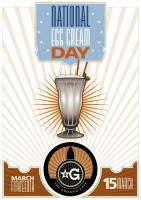 National Egg Cream Day poster by the Ground Cafe